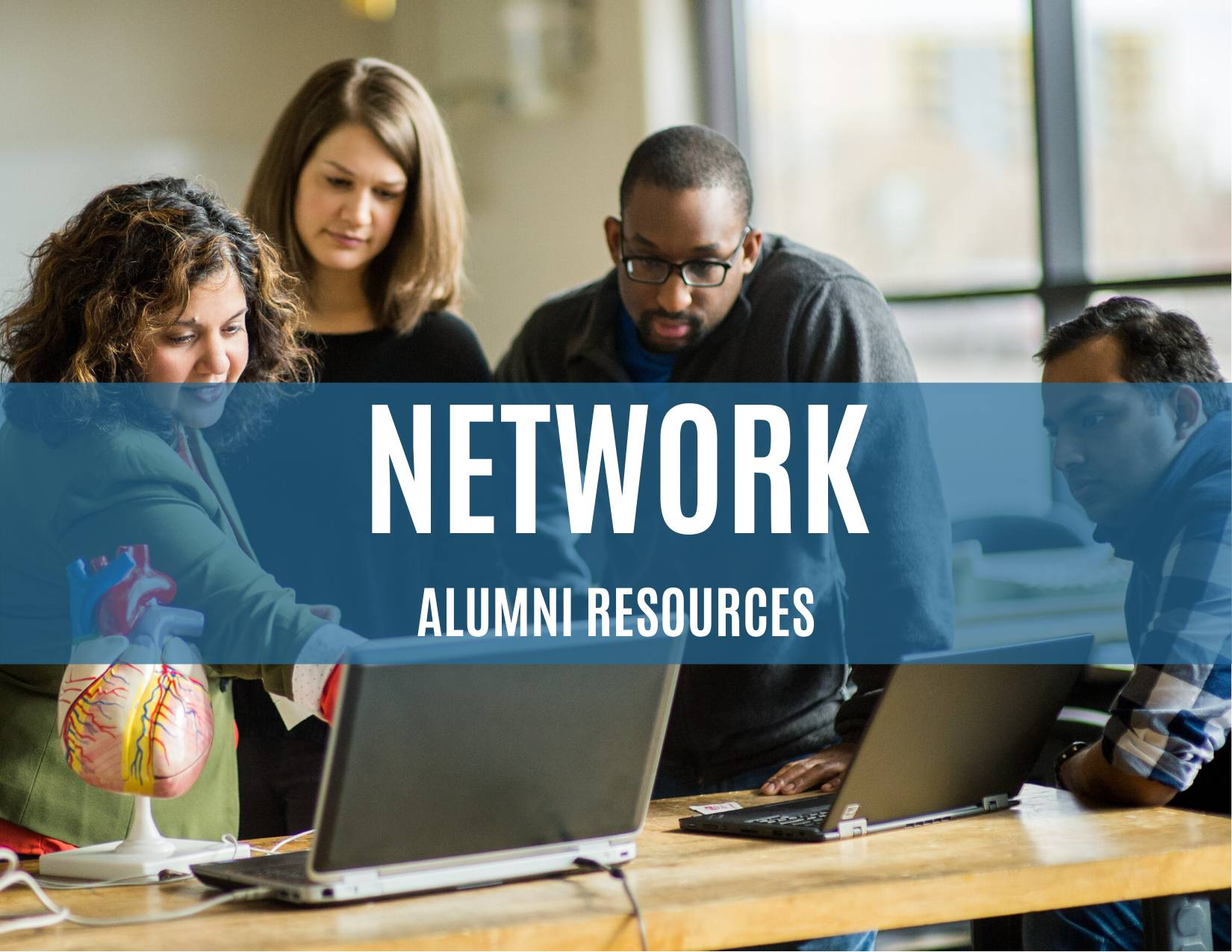 Network with alumni resources